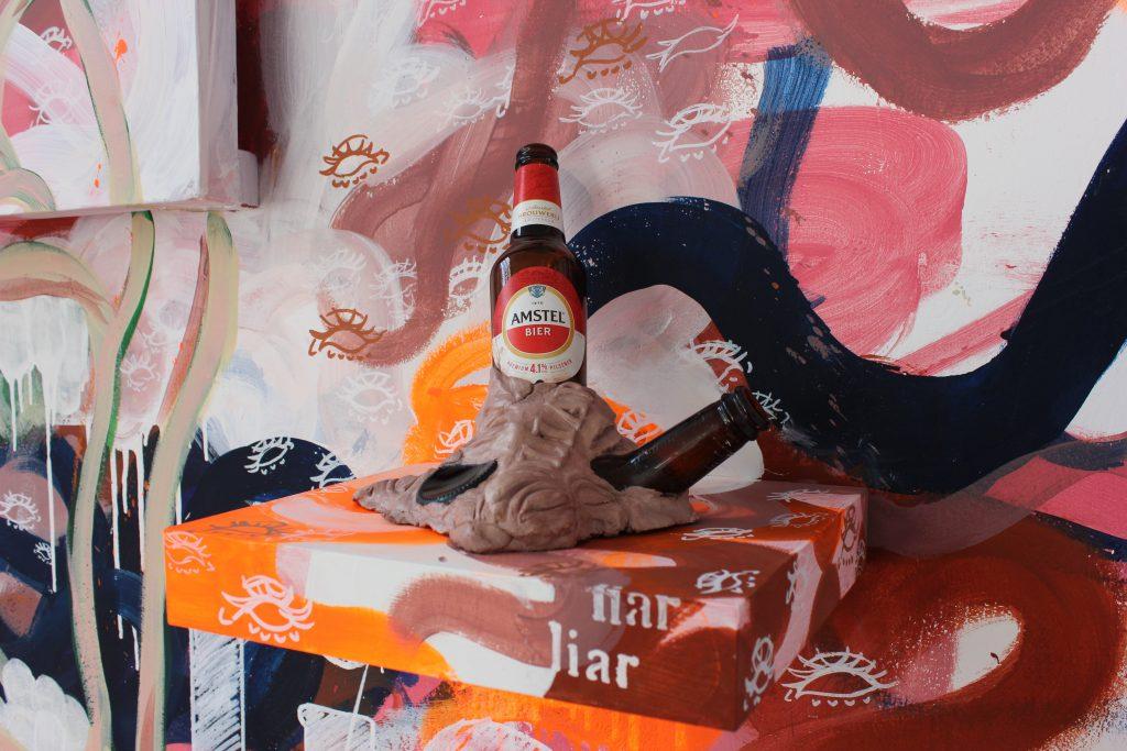 Charlotte Falkingham, All bottled up pt 2 (in self reflection), 2021